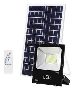 Reflector Recargable Solar Panel Solar Ilumina 100w