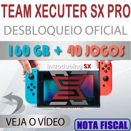 bbbb86cbf5b5c6 Nintendo Switch 160 Gb + 40 Jogos Desbloqueado Sx Os Xecuter