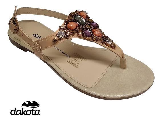 Sandália Rasteira Dakota Z5812 Pêssego