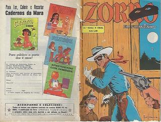 1976 Hq Quadrinhos Zorro Formatinho Em Cores Nº 2 Ed. Ebal