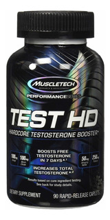 Test Hd Muscletech - Prohormonal Testosterona Y Libido 100%