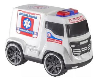 Carrinho Truck Ambulância 26cm Bs Toys