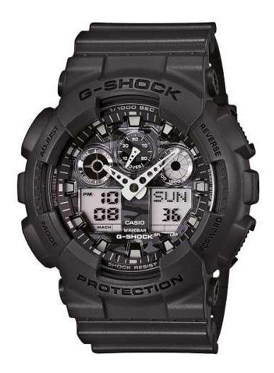Reloj G-shock Hombre Gris Ga-100cf-8adr