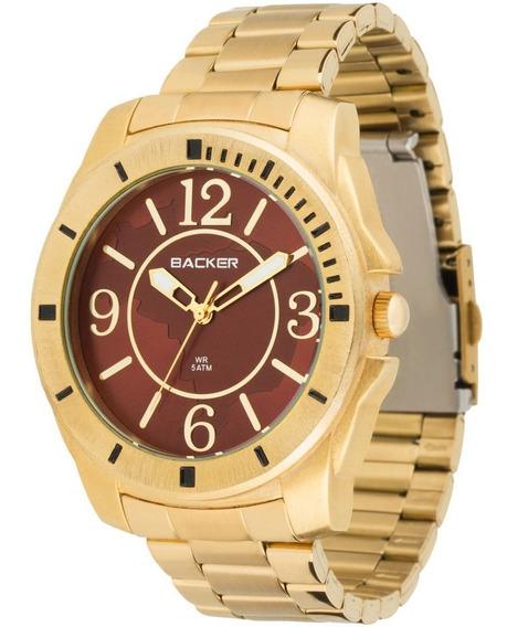 Relógio Feminino Analógico Backer 3337145f Mr - Dourado Fund