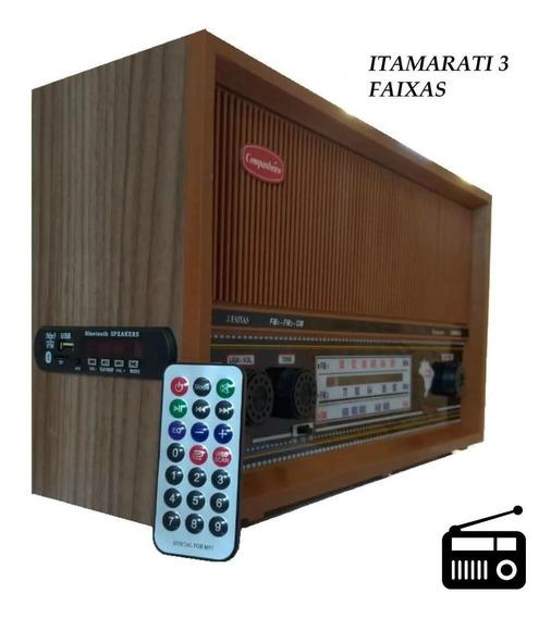 Rádio Antigo Entrada Auxiliar Para iPod/mp3/sd/usb/bluetooth