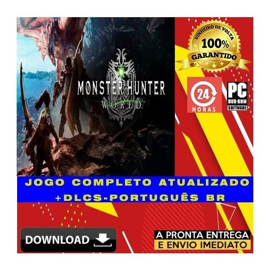 Monster Hunter World Pc Digital + Todas Dlc