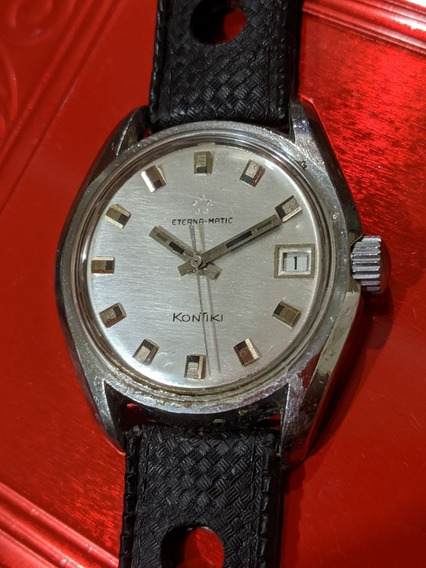 Reloj Vintage Eternamatic Kontiki Acero
