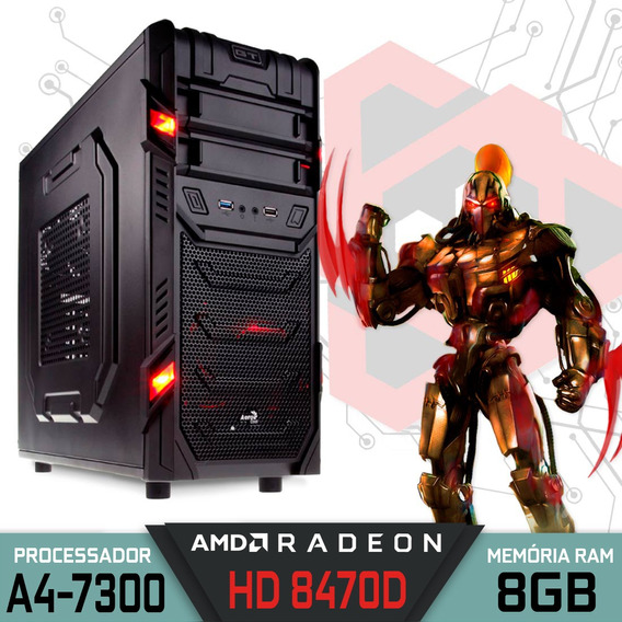Computador Gamer Gt Amd A4-7300 Ram 8gb Hd 500gb Windows 10