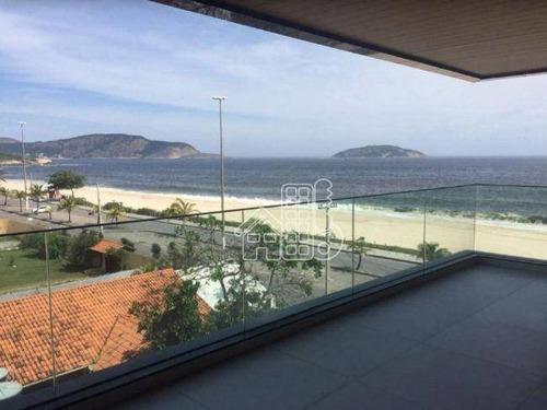 Cobertura Com 4 Dormitórios À Venda, 300 M² Por R$ 2.900.000,00 - Piratininga - Niterói/rj - Co0418