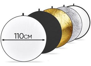 Reflector Flex 110cm 5 En 1 Para Estudio Video Y Fotografia