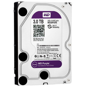 Wd Disco Duro Western Digital Purple Surveillance, 3tb, Sata