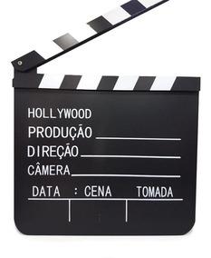 Claquete De Cinema - Mdf 20x19cm - Profissional