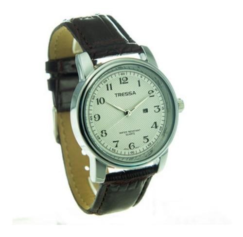 Reloj Tressa Malla De Cuero Con Calendario Modelo Barry