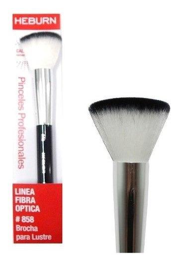 Heburn Brocha Para Lustre Maquillaje Fibra Optica Cod 858