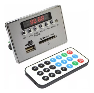 Módulo Mp3 Usb/sd/fm/aux/bluetooth 3.0 Edr + Control Remoto