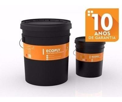 2 Galões Cubos Ecoply Manta Líquida Impermeabilizante 3,6 L