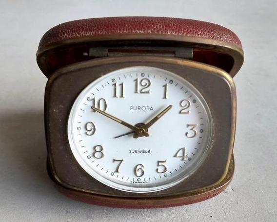 Antigo Relógio De Viagem Europa
