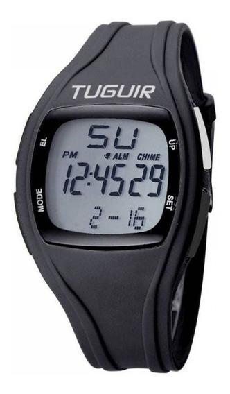 Relógio Pedômetro Unissex Tuguir Tg1602 Contador De Passos