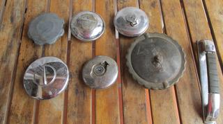 Antiguo Lote Repuestos Autos, Tapa Tanque Nafta, Manija #l