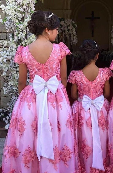 Vestido Infantil Casamento, Aniversário, Comunhão