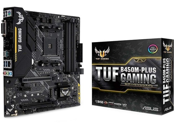 Placa Mãe Asus Tuf B450m-plus Gaming Amd Am4 Ddr4 Ryzen B450