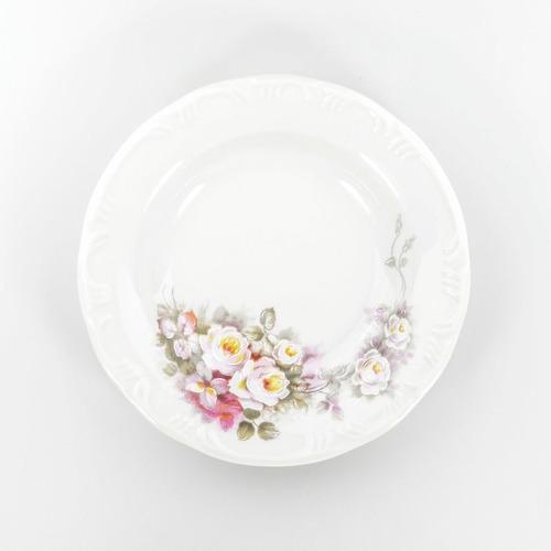 Imagem 1 de 5 de Prato Fundo 23 Cm Porcelana Schmidt - Dec. Eterna