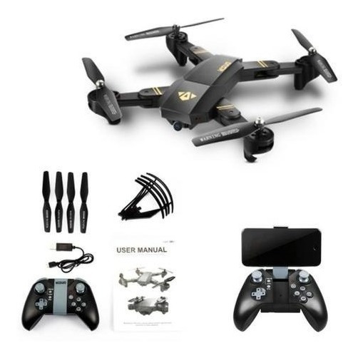 Drone Visuo Xs809hw Wifi Camera Hd 2mp + 2 Bateria Extra