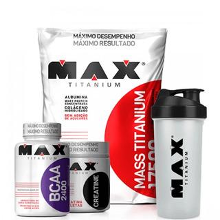 Combo Massa Max Titanium + Bcaa + Creatina