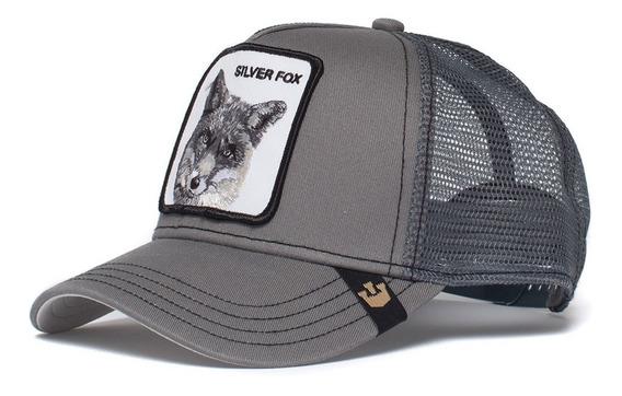 Gorra Goorin Bros Baseball Silver Fox Animal Farm Trucker