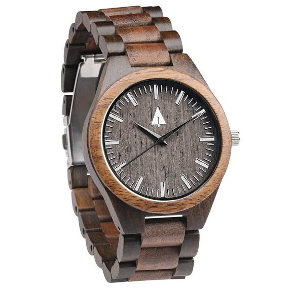 Reloj Treehut De Madera De Nogal Y Ébano Para Hombres Con