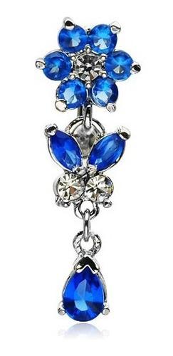 Imagen 1 de 3 de Piercing Barra Titanio Flor Invertido Piercing Argentina ®