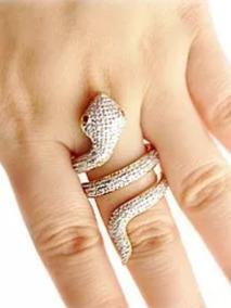 Aro 21 Aliança Serpente Ouro Amarelo 18k E Diamantes