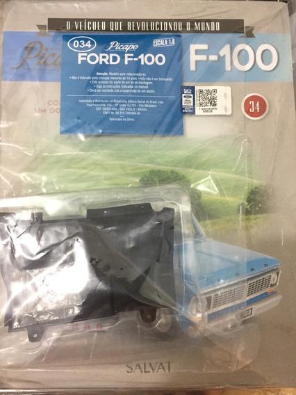 Fascículo Coleção Salvat Picape Ford F100 F-100 Numero 34