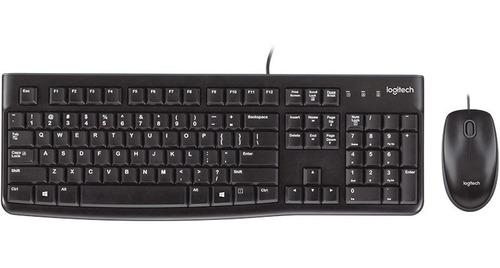 Imagen 1 de 6 de Kit Teclado Y Mouse Logitech Mk120 Usb Combo Multimedia Slim
