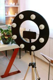 Ring Light Iluminador Maquiagem P/ 8 Lampadas + Tripé 130cm