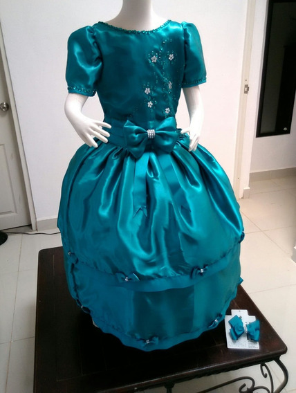 Vestido Verde Esmeralda Para Niña De 8 Años