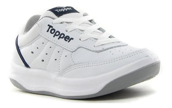 Topper Zapatilla Niño X Forcer Blanca Azul 21884 Cuero