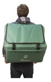 Acordeao 120 Baixos Benson Bac120-7sbk Preto 9 Bag Case