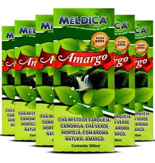 6 Amargo Chá Composto Para Sistema Digestivo 500ml Méldica