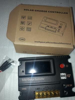 Controlador De Panel Solar De 20 Amperes Con Panel Digital