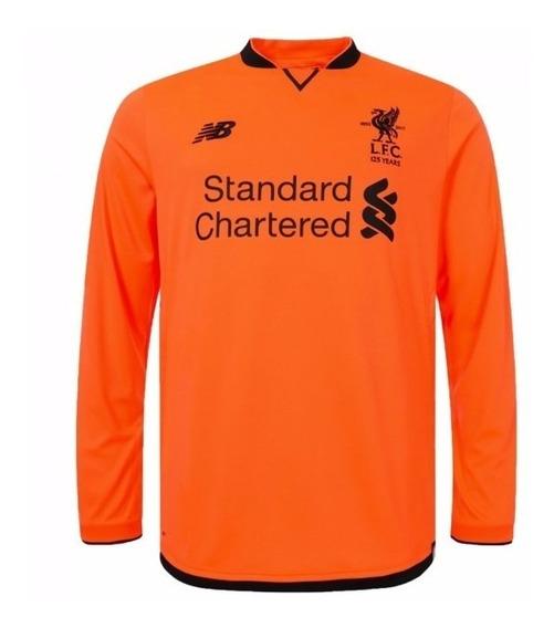 Camisa Liverpool 3rd 17-18 Manga Longa Importada