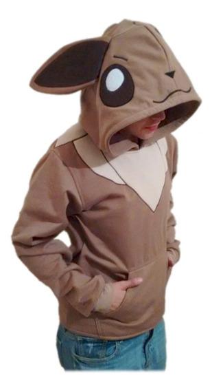 Hoodie Eevee Pokemon, Sudadera Bordada De Calidad Y Variedad