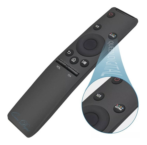 Imagen 1 de 10 de Control Remoto Smart Tv Para Samsung Curvo 4k Uhd Ku6400
