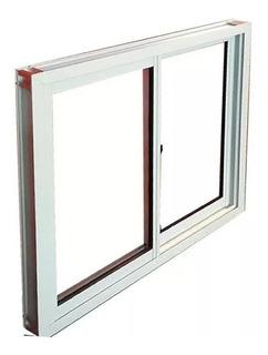 Ventana 120x110 Vidrio Entero Aluminio Blanco