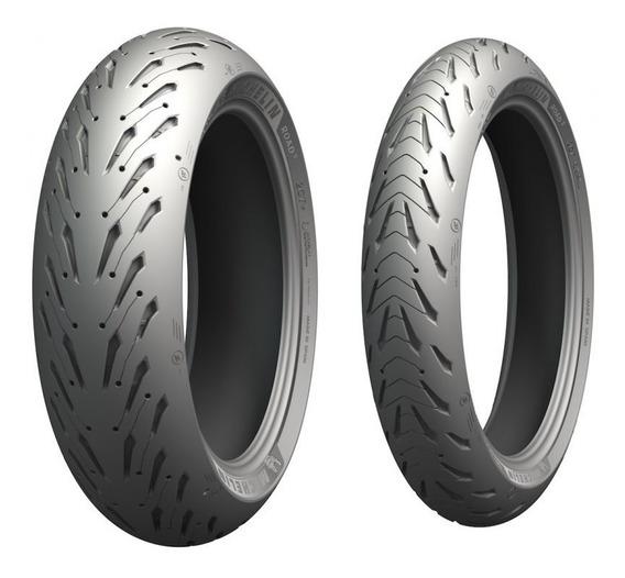 Combo Pneu Michelin Pilot Road 5 120/70-17 E 190/50-17