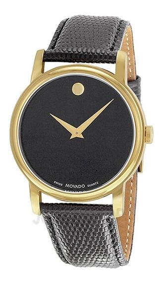 Reloj Movado Dial Negro Piel Hombre 2100005