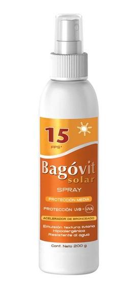 Bagovit Solar Spf15 Acelerador De Bronceado Spray 200g
