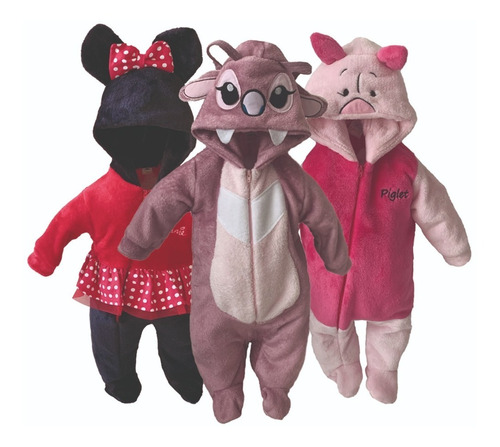 Kit 3 Mamelucos Disney Minnie, Angel, Piglet A Precio De 2