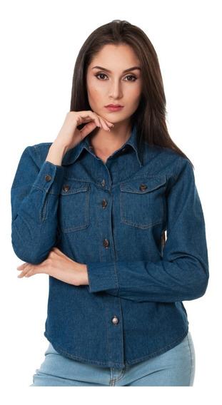 Camisas Jean Blusas Diseño Original De Moda Vilamo Ref: 1701