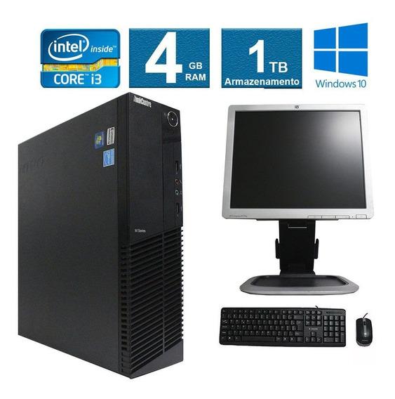 Computador Lenovo Thinkcenter M91 I3 4gb 1tb Monitor 17